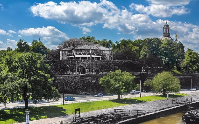 Das Belvedere auf dem Terrassenufer