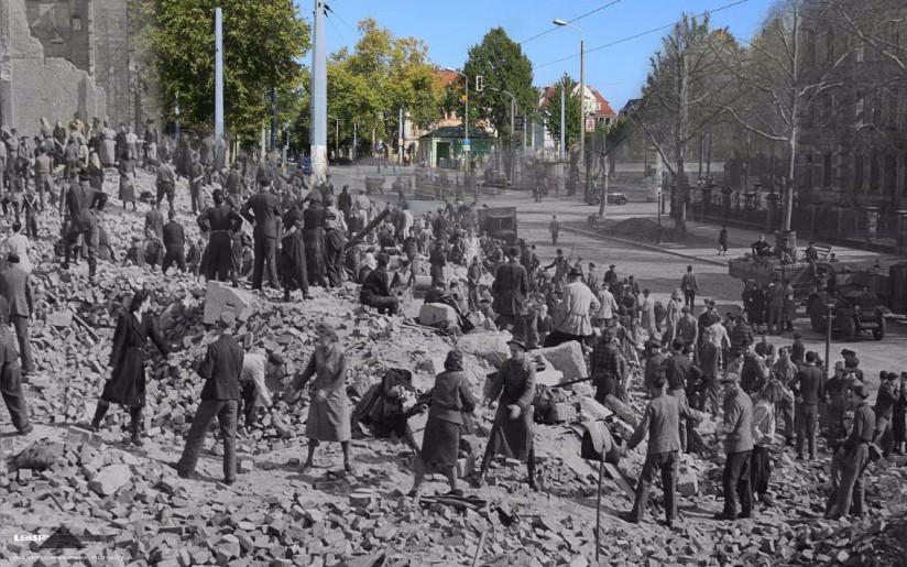 Blick zum Fetscherplatz 1945